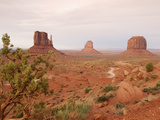 Monument Valley on the Navajo Indian Reservation Showing East Mitten, West Mitten Photographic Print by John Cornell