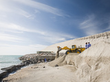 Workers Constructing Erosion Control from the Ocean as Part of a Reclamation Scheme Photographic Print by Ashley Cooper