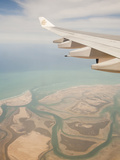 Flying over the Coastline and Estuary of Dubai in the Uae Photographic Print by Ashley Cooper