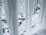 Icicles in Bridal Veil Falls, Pikes Peak State Park, Iowa, USA Photographic Print by Clint Farlinger