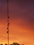 Communication Tower at Twilight Photographic Print by Wally Eberhart