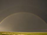 Rainbow in the Texas Panhandle, USA, Note The Faint Second Rainbow Above Photographic Print by Charles Doswell