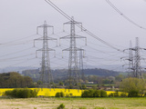 Electricity Towers and Transmission Lines Leaving Ratcliffe on Soar Coal-Fired Power Plant Photographic Print by Ashley Cooper