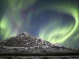 Aurora Borealis over Mount Dillon, Brooks Range, Alaska, USA Photographic Print by Patrick Endres