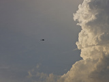 News Helicopter Flies Near an Oklahoma Supercell Photographic Print by Charles Doswell