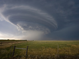 Rotating Wall Cloud from a Supercell in Eastern Colorado Photographic Print by Charles Doswell
