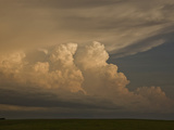 New Thunderstorms Developing at the End of a Squall Line in Central South Dakota, USA Photographic Print by Charles Doswell