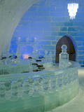 Aurorice Hotel, Chenhot Springs a 30 Ft High Gothic Style Ice Structure Built from Ice and Snow Photographic Print by Patrick Endres