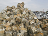 Scrap Metal at a Recycling Plant, Blackburn, United Kingdom Photographic Print by Ashley Cooper