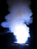 Reaction of Cuprous Chloride, Potassium Chlorate, and Sulfur Photographie par Philip Evans