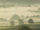 Morning Mist over the Kent Valley Near Kendal, Cumbria, United Kingdom Photographic Print by Ashley Cooper