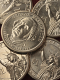 George Washington $1.00 Coins Photographic Print by Jeff Daly