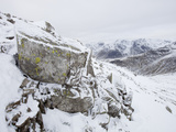 Scafell Pike from Crinkle Crags in the Lake District, UK Photographic Print by Ashley Cooper