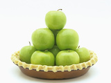 Granny Smith Apples in a Raw Pie Crust Photographic Print by Wally Eberhart