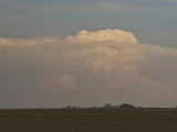 Approaching Cumulonimbus Clouds over Farm Fields in Northern Oklahoma Photographic Print by Charles Doswell