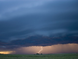 Cloud-To-Ground Lightning from an Approaching Squall Line in Southwestern Nebraska, USA Fotografie-Druck von Charles Doswell