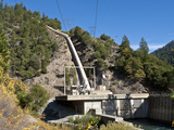Belden Powerhouse and Penstock, North Fork of the Feather River, California, USA Fotografiskt tryck av Gerald & Buff Corsi