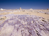 Landscape of White Desert National Park, Libyan Desert, Egypt Photographic Print by Reinhard Dirscherl