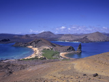 Sullivan Bay and Bartolome Island, Galapagos Islands, Ecuador Photographic Print by Gary Cook