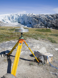 Gps Equipment for Measuring the Speed of the Receding Russell Glacier Near Kangerlussuag, Greenland Photographic Print by Ashley Cooper