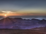 Sunrise at Haleakala Crater, Maui, Hawaii, USA Photographic Print by Reinhard Dirscherl