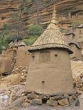 Traditional Dogon Granary, Mali Fotografisk tryk af Gary Cook