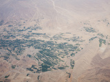Aerial View of the Landscape and Irrigated Fields of Iran Photographic Print by Ashley Cooper