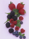 Mixed Berries, Including Strawberry, Blackberry, Raspberry, and Blueberry Photographic Print by Wally Eberhart