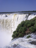 Devils Throat on the Argentina Side of Iguazu Falls (Iguacu) Fotografiskt tryck av Gary Cook