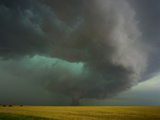 Tornado and Rear Flank Downdraft Approaching Stockton, Kansas Photographic Print by Charles Doswell