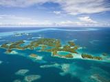 Aerial View of Seventy Islands, Micronesia, Palau Photographic Print by Reinhard Dirscherl