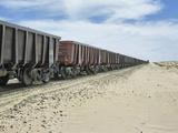 Iron Ore Train across the Sahara Desert to Nouadhibou, Mauritania Photographic Print by Gary Cook
