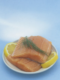 Raw Atlantic Salmon Ready for Cooking (Salmo Atar) Photographic Print by Wally Eberhart