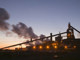 Dusk View of Corus Steelworks at Redcar, United Kingdom Photographic Print by Ashley Cooper