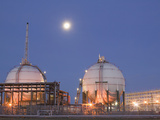 Full Moon over a Petrochemical Plant, Teeside, United Kingdom Photographic Print by Ashley Cooper