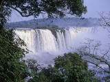 Brazilian Side of Iguazu Falls (Iguacu), on the Border Between Argentina and Brazil Fotografiskt tryck av Gary Cook