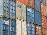 A Large Stack of Shipping Containers Photographic Print by Ashley Cooper