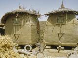 Granary Stores, Songhai Village Near Mopti, Mali Fotografisk tryk af Gary Cook