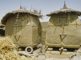 Granary Stores, Songhai Village Near Mopti, Mali Photographic Print by Gary Cook