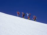 Climbers on Villarrica Volcano, Near Pucon, Lake District, Chile Photographic Print by Gary Cook
