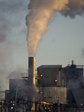 Air Pollution Emissions from a Paper Mill Photographic Print by Marc Epstein
