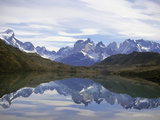 Reflections of the Cuernos Del Paine in a Lake, Torres Del Paine National Park, Patagonia, Chile Photographic Print by Gary Cook