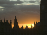 Big Ben and the Houses of Parliament at Twilight, London, UK Photographic Print by Ashley Cooper