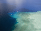 Aerial View of Divespot Blue Corner, Micronesia, Palau Photographic Print by Reinhard Dirscherl