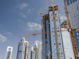 Built and New High Rise Buildings under Construction in Dubai Photographic Print by Ashley Cooper