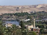 Nile River Landscape of Aswan, Aswan, Egypt Photographic Print by Reinhard Dirscherl