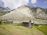 The Massive 1991 Randa Landslide Below Zermatt, Switzerland Photographic Print by Ashley Cooper