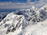 Mountain Ridges, Cirques, and Glaciers Surrounding Mount Mckinley, Denali National Park, Alaska Photographic Print by Patrick Endres