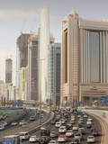 Traffic in Dubai City Photographic Print by Ashley Cooper