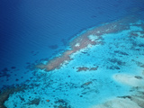 Aerial View of Ari Atoll and Coral Reefs, Maldives, Indian Ocean Photographic Print by Reinhard Dirscherl